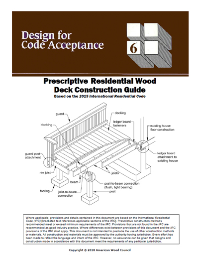 DCA 6 - Prescriptive Residential Wood Deck Construction Guide