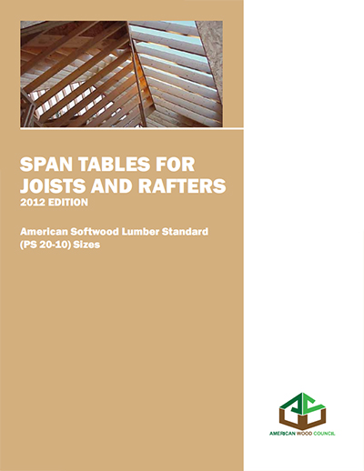 2012 Span Tables For Joists And Rafters Amp 2012 Design