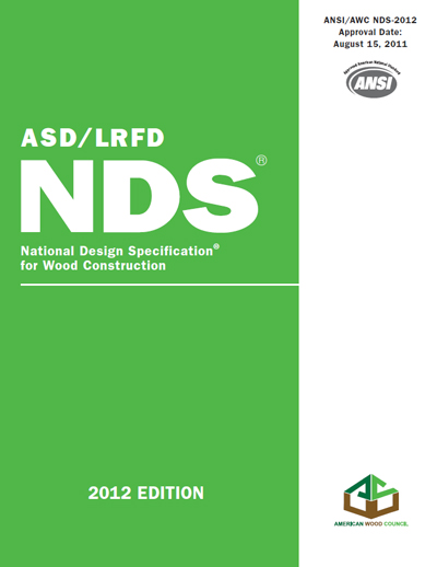 National Design Specification- (NDS-) for Wood Construction