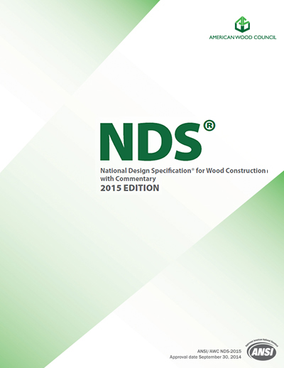 National Design Specification Nds For Wood Construction 2015