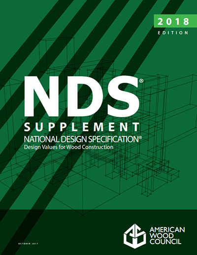 2018 National Design Specification Nds For Wood Construction
